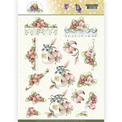 CD11312 3D Knipvel - Precious Marieke - Blooming Summer - Red Summer Flowers
