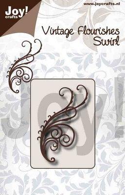 Joy! stencil 6003/0092 - stencil vintage flourishes swirl