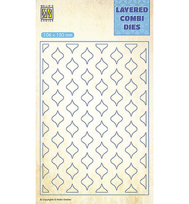 Nellies - Layered combi dies - Eastern oval Layer B - LCDE002