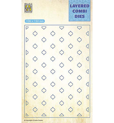 Nellies - Layered combi dies - Eastern oval Layer C - LCDE003