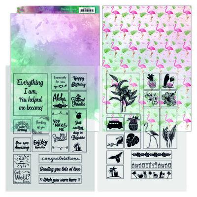YCMC1002 Mica Sheets - Yvonne Creations - Happy tropics