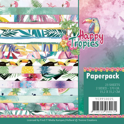 YCPP10025 Paperpack - Yvonne Creations - Happy tropics