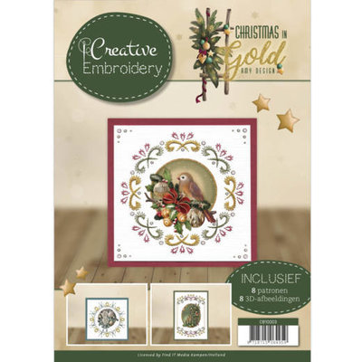 CB10003 Creative Embroidery - Amy Design - Christmas in Gold