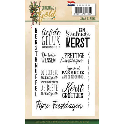 ADCS10060 Clear Stamps - Amy Design - Christmas in Gold - Text NL