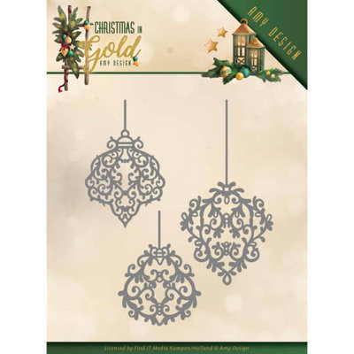 ADD10184 Dies - Amy Design - Christmas in Gold - Golden Ornaments
