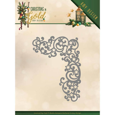 ADD10185 Dies - Amy Design - Christmas in Gold - Golden Corner