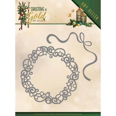 ADD10181 Dies - Amy Design - Christmas in Gold - Christmas Wreath