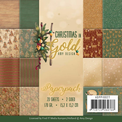 ADPP10027 Paperpack - Amy Design - Christmas in Gold