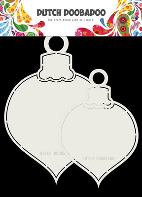 Dutch Doobadoo - Dutch Shape Art -2x kerstballen max 13x19 cm 470.173.721