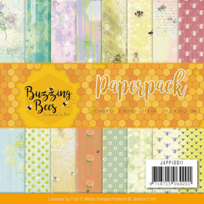 JAPP10011 Paperpack - Jeanines Art - Buzzing Bees