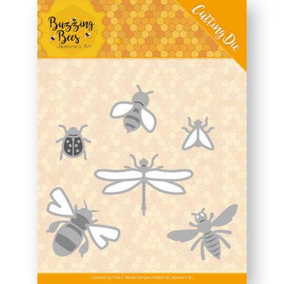 JAD10076 Dies - Jeanines Art - Buzzing Bees - Set of Bugs