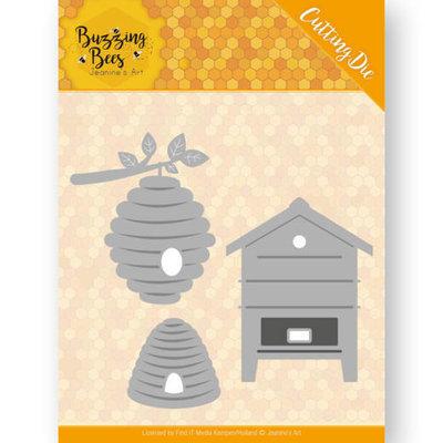 JAD10075 Dies - Jeanines Art - Buzzing Bees - Beehives