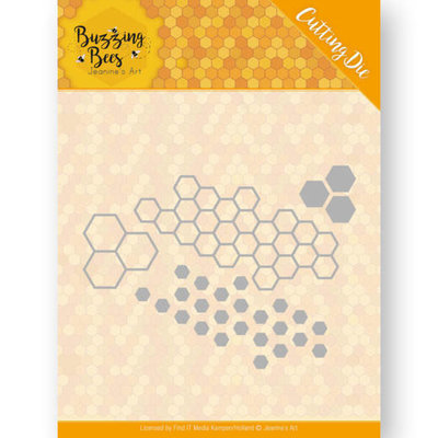 JAD10074 Dies - Jeanines Art - Buzzing Bees - Hexagon Set