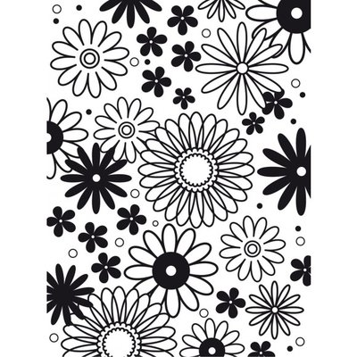 Embossing template 10,8x14,6cm flower frenzy