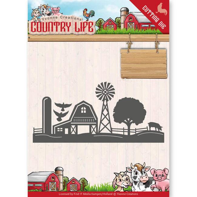 Dies - Yvonne Creations - Country Life Farm Border  YCD10125