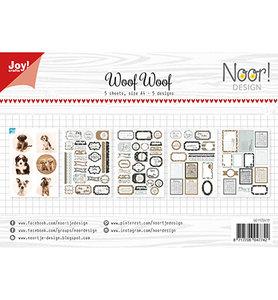 Joy! labelsheets cuttingsheet Noor - Woof Woof 6011/0417