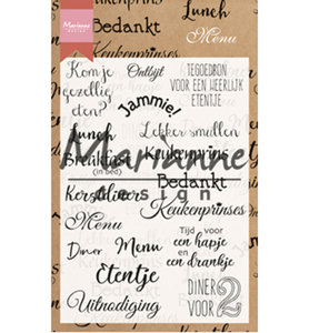 Clear stamp - Menu   CS1015