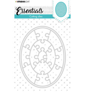 Studio Light Embossing -  SL Cutting Die Small shape oval puzzle Essentials nr.386