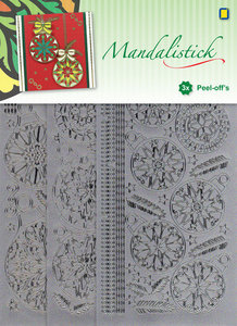 JeJe - Mandalistick Peel-off`s - Christmas Baubles 3-pack - Silver