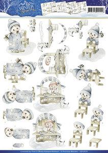 Precious marieke, Winter wonderland , CD10578 knipvel