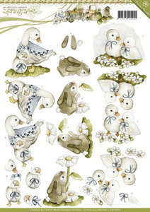 Springtime- knipvel animals