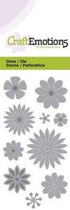 CraftEmotions Die - bloemenmix Card 5x10cm