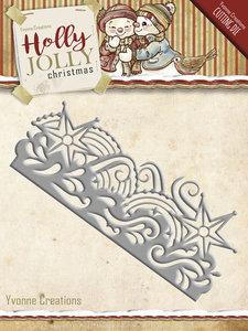 Holly Jolly - die: Snowflake Border