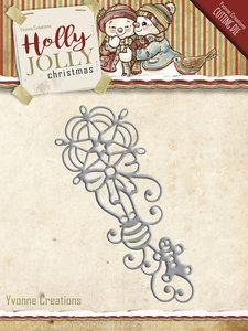 Holly Jolly - die: Ornament