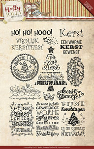 Holly Jolly - Tekst - Clearstamp