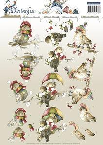 Winterfun- knipvel  Funny birds cd10785