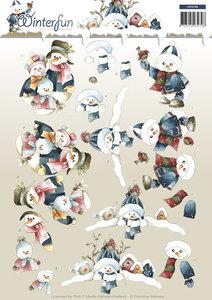 Winterfun- knipvel  snowmen cd10788