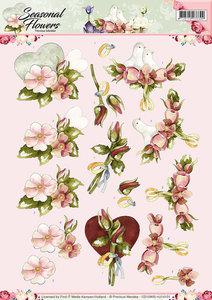3D Knipvel - Precious Marieke - Seasonal Flowers - Huwelijk