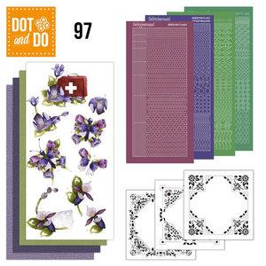 Dot & do  97 Purple flower