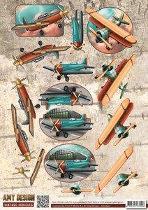 3D Knipvel - Amy Design - Vintage Vehicles - Planes