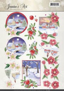 3D Knipvel - Jeanines Art - Christmas Classics - Christmas Landscapes