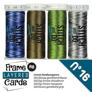 Garenset -  Layered Frame Cards 16