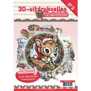 3D uitdrukvellen boek Kerstcollectie nr3