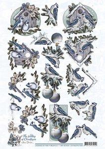 3D Knipvel - Amy Design - The feeling of Christmas - Christmas birds  cd10924