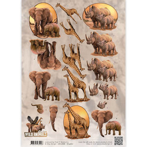 3D Knipvel - Amy Design - Wild Animals - Big Five 2