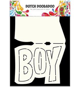 Dutch Doobadoo - Dutch Card Art - Text 'Boy'