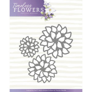Dies - Precious Marieke - Timeless Flowers - Dahlia Trio PM10122