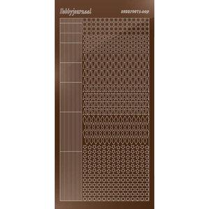 Hobbydots sticker - Mirror Brown STDM09G