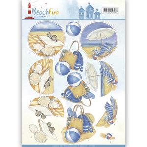 3D knipvel - Jeanine's Art - Beach Fun - Relax CD11069