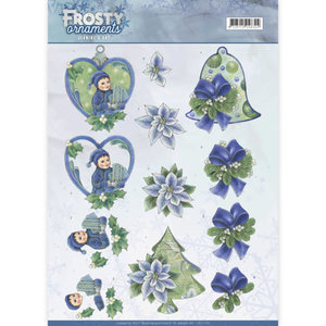 3D knipvel - Jeanine's Art - Frosty Ornaments - Green Ornaments CD11129