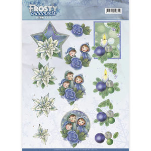 3D knipvel - Jeanine's Art - Frosty Ornaments - Blue Ornaments CD11130