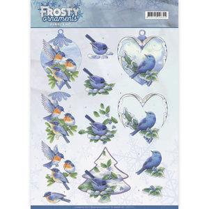 3D knipvel - Jeanine's Art - Frosty Ornaments - Blue Birds CD11131