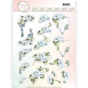 3D Knipvel - Precious Marieke - Flowers in Pastels - Blue Dreams CD11141