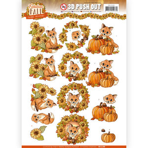 3D Push Out - Yvonne Creations - Fabulous Fall - Fabulous Foxes SB10288