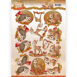 3D Knipvel - Yvonne Creations - Fabulous Fall - Fabulous Animals CD11157