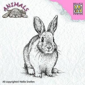 Nellies Choice Clearstempel - Dieren konijn ANI012